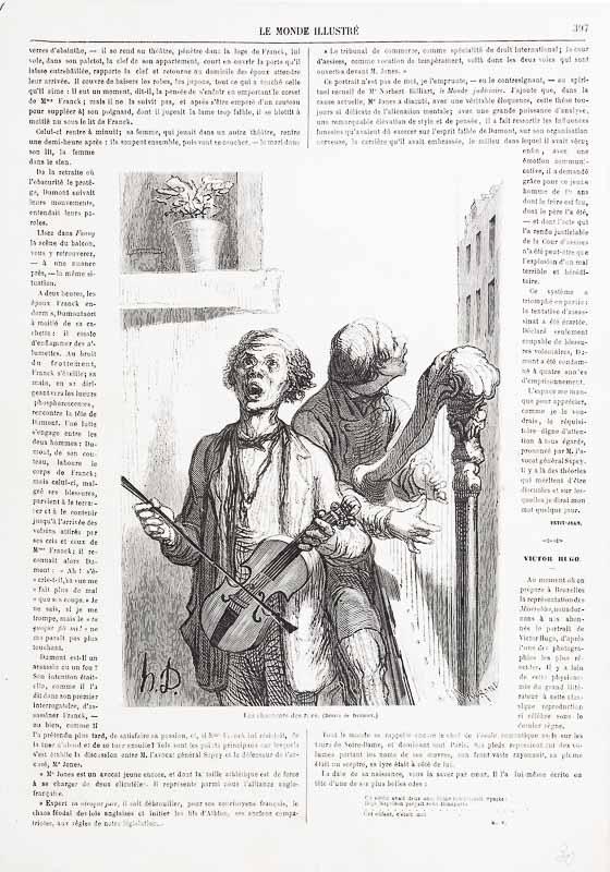 Die Strassensänger. (1862)