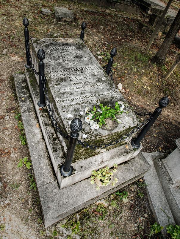 Honré Daumier Grabmal auf dem Friedhof Père Lachaise