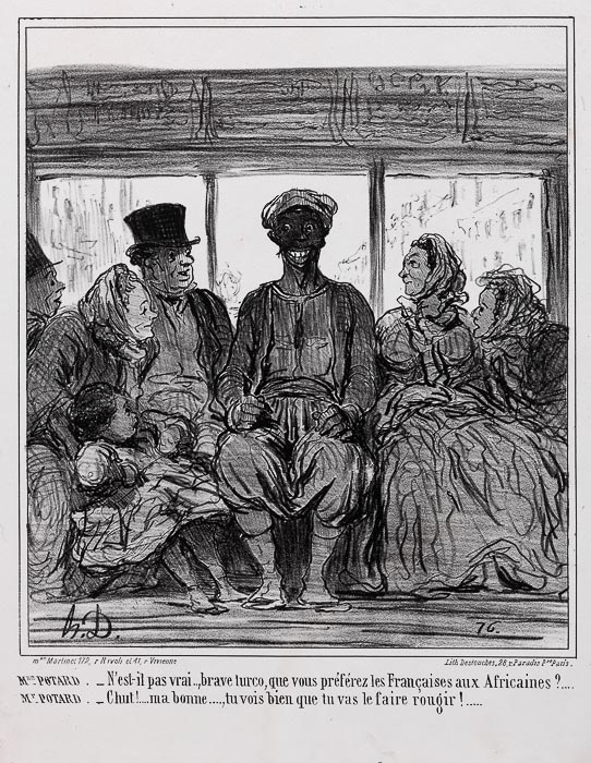 FRAU POTARD: - Nicht wahr, braver Turco... (1859)