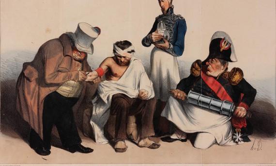 Erst zur Ader lassen, dann reinigen und zum Ende ein Klistier. (1883)