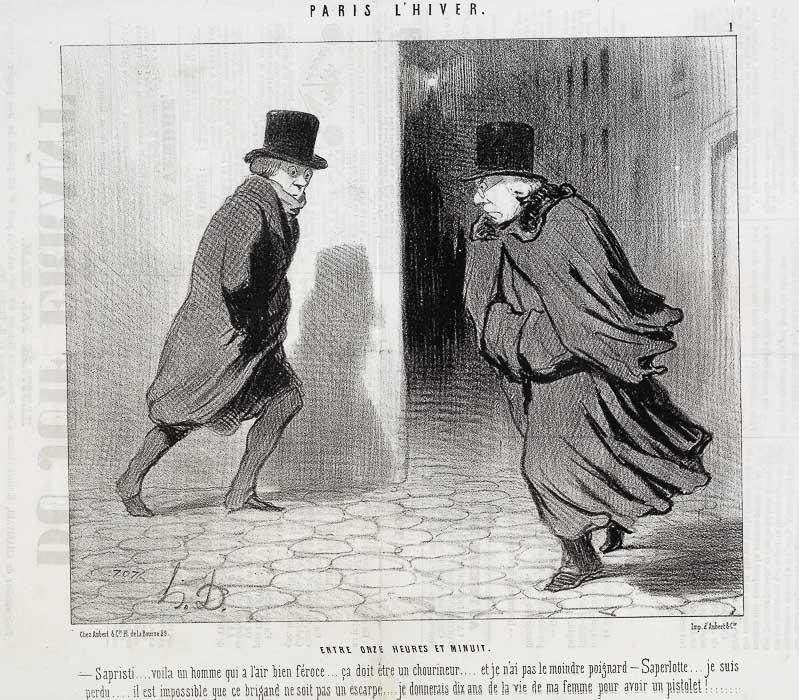 ZWISCHEN ELF UHR UND MITTERNACHT. (1844)