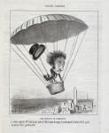 EINE LANDUNG MIT DEM FALLSCHIRM. (1852)
