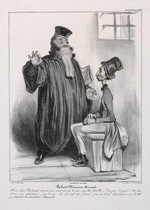 Robert Macaire als Rechtsanwalt. (1836)