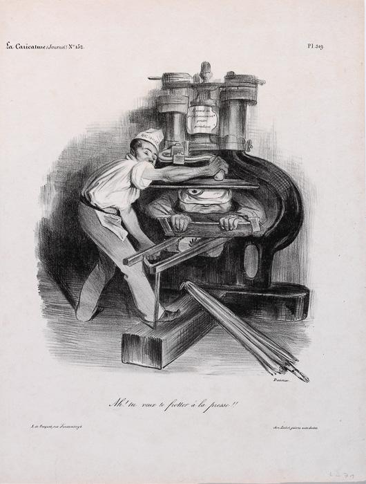 Ah! tu veux te frotter à la presse!! (1833)