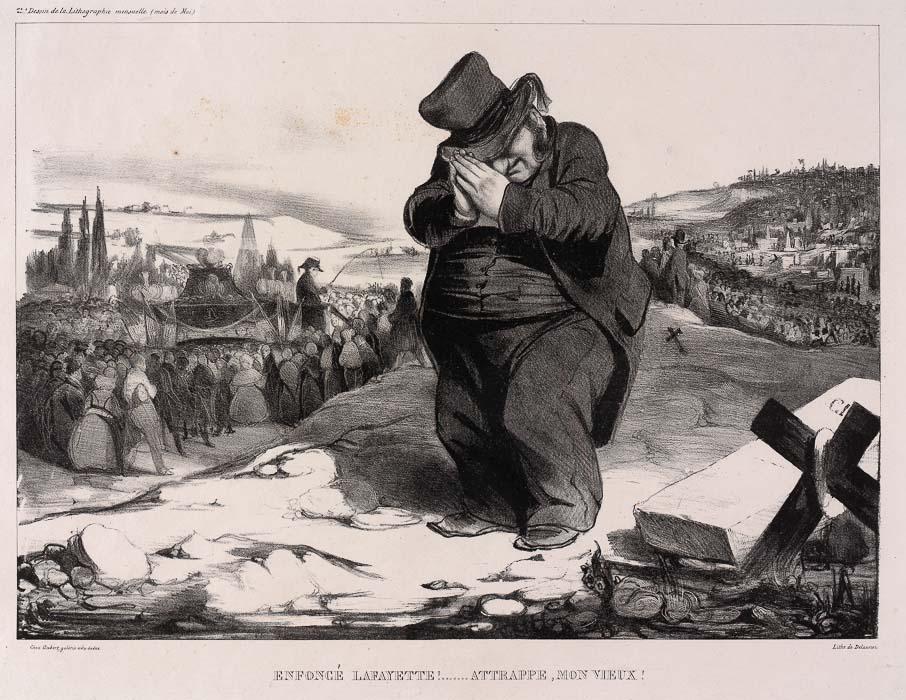 DU BIST ERLEDIGT, LAFAYETTE ! SEI DIR DESSEN BEWUSST. (1834)