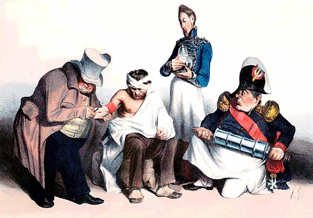 Erst zur Ader lassen, dann reinigen... (1873)