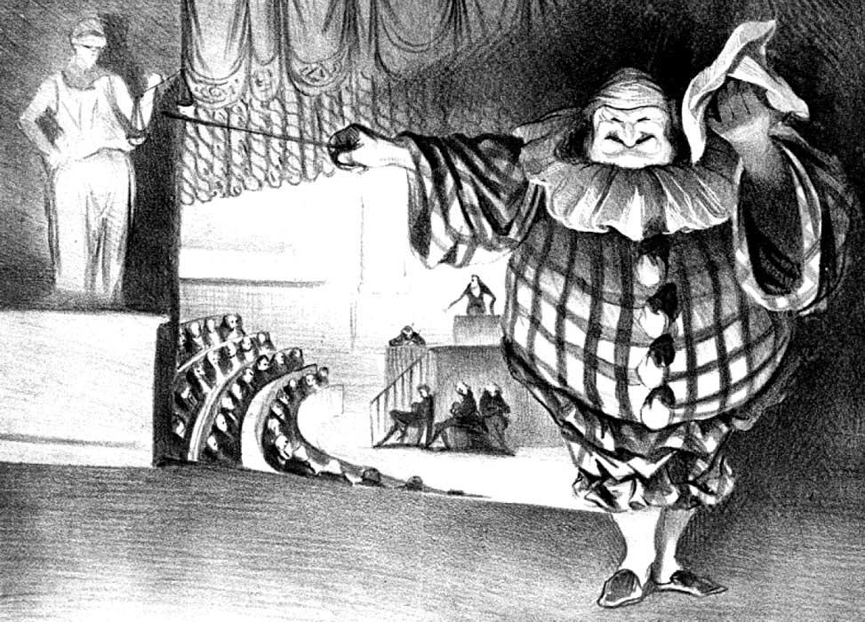 Herunter mit dem Vorhang. Das Possenspiel ist aus. (1834)